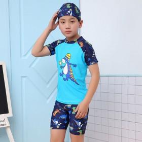 儿童泳衣男童泳裤游泳镜套装男孩分体小中大童游泳衣