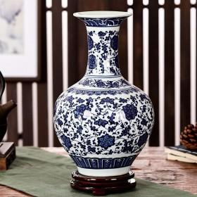 景德镇陶瓷器青花瓷花瓶家居酒柜书房办公室装饰工艺品