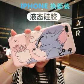 iphone手机壳情侣硅胶苹果x/xs保护壳卡通软