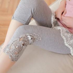 孕妇裤打底裤夏季托腹裤薄款七分裤弹力外穿夏季
