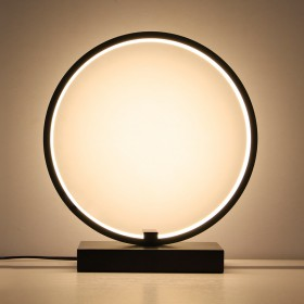 台灯卧室床头柜创意简约现代温馨房间可调光圆形遥控