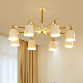 北欧现代实木吊灯客厅卧室创意餐厅个性大厅马卡龙灯具