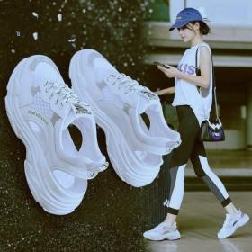 凉鞋女鞋夏季新款韩版镂空透气洞洞鞋罗马鞋运动鞋