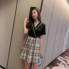 智熏裙法式复古桔梗裙2019夏新款收腰仙女裙