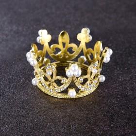 皇冠蛋糕装饰摆件网红迷你珍珠小皇冠公主儿童成人王冠
