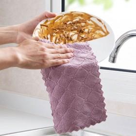不沾油不掉毛抹布厨房吸水擦桌擦碗洗碗布巾擦手巾百洁