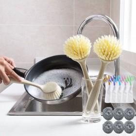 洗锅锅刷不伤锅不沾油带柄长柄刷锅刷子擦锅厨房清洁刷