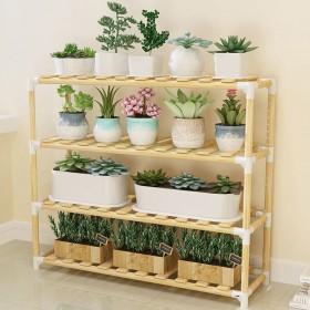 欧式实木花架多层落地式置物架储物架多肉植物