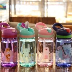韩版防摔塑料杯儿童吸管杯创意水杯