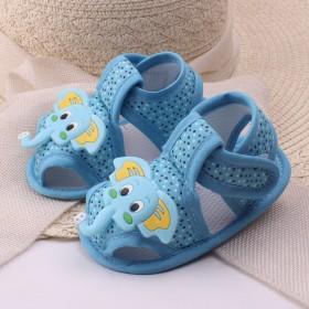 宝宝学步鞋0-1岁2019年新款夏季婴儿鞋布软底学