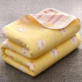 纯棉纱布宝宝浴巾洗澡巾儿童大毛巾柔软吸水纱布童被