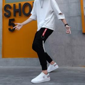 男士小白鞋秋季新款男鞋时尚潮流板鞋男低帮系带