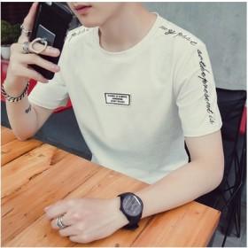 男式T恤短袖新款夏季圆领刺绣体恤男装修身韩版t恤