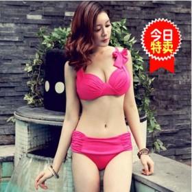 艾尼芙瑞泳衣女 韩版性感钢托聚拢大胸大罩杯比基尼温