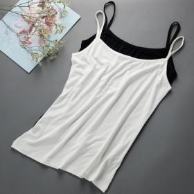 吊带背心女士白色打底衫短款小背心吊带衫棉修身