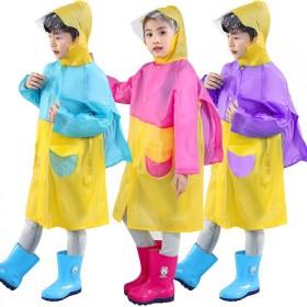 儿童雨衣雨披带书包位小学生幼儿园男女小孩雨具