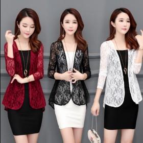 2019新款外套蕾丝衫韩版女装女士长袖防晒衣披