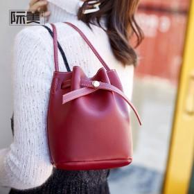 2019春季新款I时尚水桶包潮流单肩斜挎包包女包