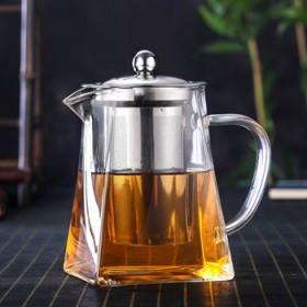耐热玻璃茶壶耐高温加厚家用小号过滤