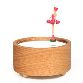 木质芭蕾舞女孩音乐盒八音盒生日礼物摆件送女生