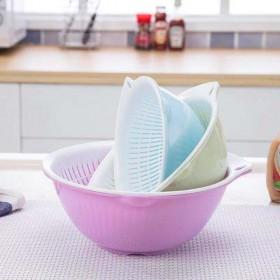 双层塑料沥水篮洗菜盆洗菜篮厨房家用创意淘米洗水果菜