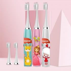 儿童电动牙刷宝宝非充电式软毛超细防水卡通自动牙刷