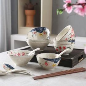 手绘4.25寸陶瓷饭碗单个
