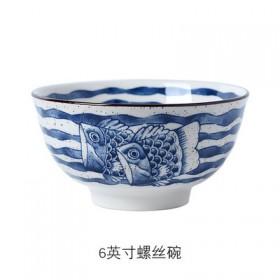 6寸手绘陶瓷面条汤碗