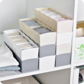 1组分格五格袜子收纳盒桌面内衣收纳格抽屉式内裤整理