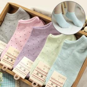 薄款袜子女士韩版纯色浅口隐形女袜可爱短筒韩国棉袜