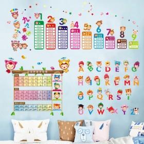 儿童房间壁纸装饰墙纸宝宝量身高贴