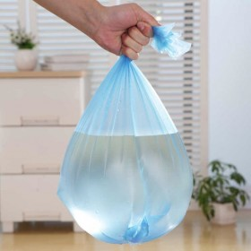100只垃圾袋平口家用加厚厨房彩色一次性经济大中号