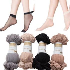 10双短丝袜女夏季袜子女式水晶袜丝袜