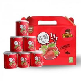 天同果小懒草莓罐头312克×6罐一箱装