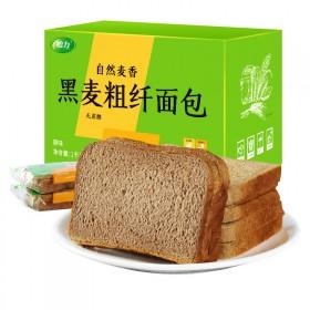 2斤怡力黑麦吐司切片面包无糖粗粮营养饱腹代餐