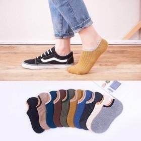 袜子男士船袜隐形袜短袜夏季薄款纯棉运动防臭吸汗