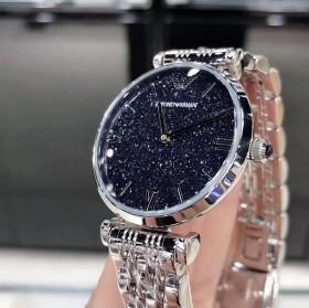 阿玛尼手表香港代购满天星女款AR1926黑色星空