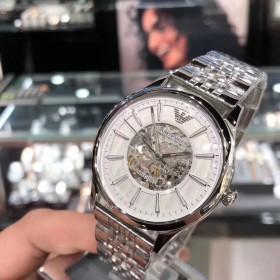 阿玛尼手表男香港代购男款机械简约休闲商务腕表