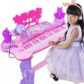 儿童玩具电子琴玩具女孩1-8岁初学音乐钢琴电源器