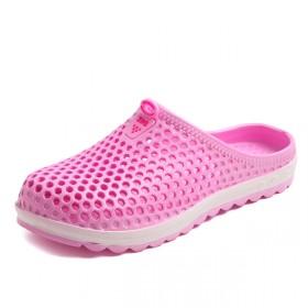 夏季情侣洞洞鞋平跟厚底防滑耐磨镂空大头拖鞋懒人鞋
