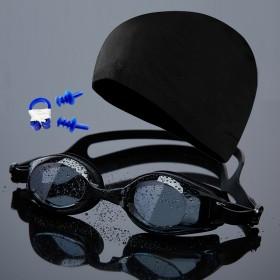 游泳眼镜泳镜高清防雾男女成人儿童防水游泳镜泳帽套装