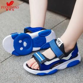 富贵鸟童鞋夏季新款中大童防滑小学生韩版小孩沙滩鞋男