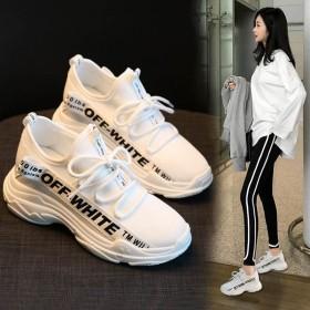 运动鞋女透气网面2019新款夏季韩版厚底老爹鞋百搭