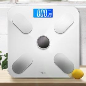 家用体重称电子秤精准自然光自动充电人体智能测脂肪秤