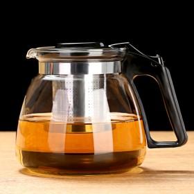 1000ML茶壶套装单壶花茶杯飘逸杯泡茶壶玻璃耐热
