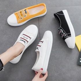 鞋子女学生百搭森系帆布鞋2019新款夏季薄款韩版透