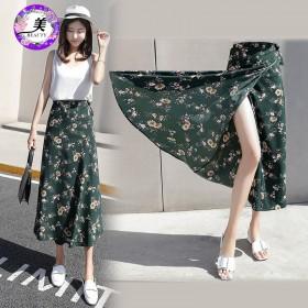 夏季新款不规则度假裹身裙潮雪纺一片式长裙