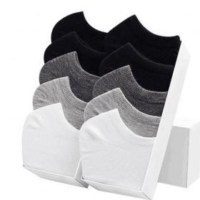 南极人男士短袜中筒纯棉船袜100%纯棉袜男士防臭
