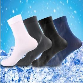 【10双装】男士短丝袜超薄款夏季商务男袜透气中筒袜