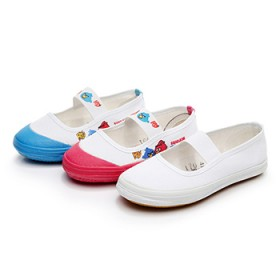 幼儿园儿童布鞋夏季学生运动帆布男透气白色女跳舞体操